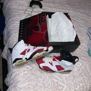 "Jordan 6 ""Carmine"" from the 2008 CDP Size 10.5"
